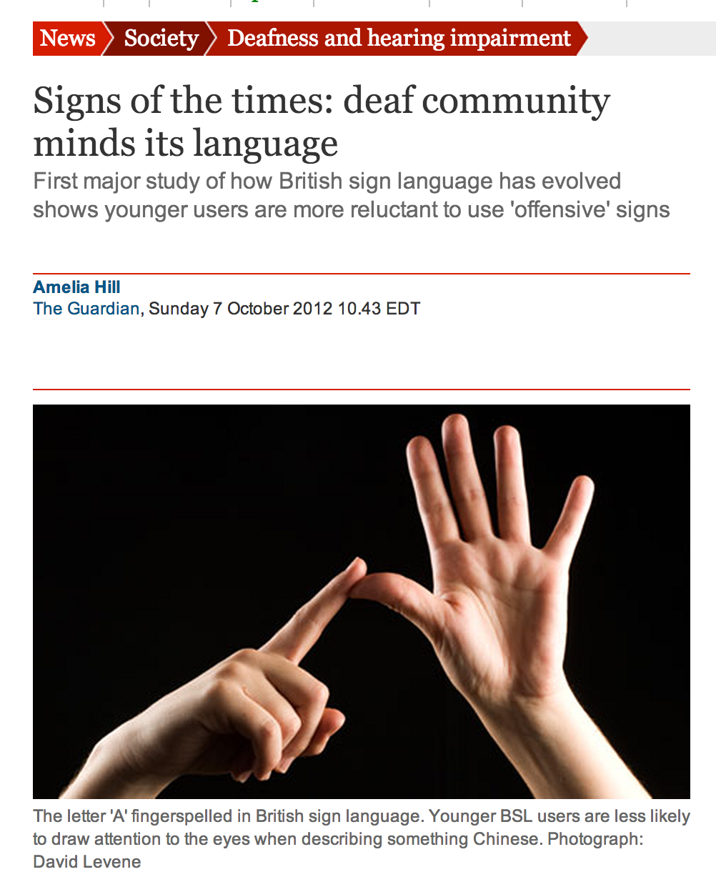 UK: Signs of the Times - Deaf Gay Signs in UK