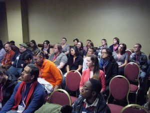 The room was full for our workshop.